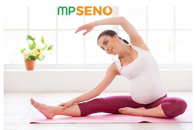 Bà bầu luyện tập khi mang thai